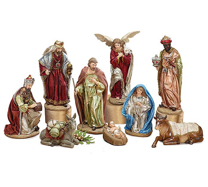 REGAL COLOR LARGE NATIVITY SET