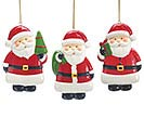 SANTA CLAUS ORNAMENT TRIO