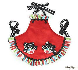 DOLL SIZE CHRISTMAS APRON