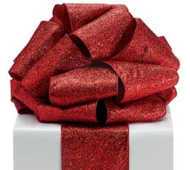 #100 RED GLITTER RIBBON