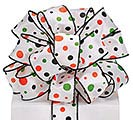 RIBBON #9 HALLOWEEN DOTS