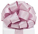 RIBBON #40 LT PK/SIL CHEVRON