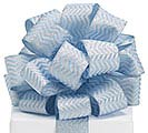 RIBBON #40 LT BLUE/SIL CHEVRON
