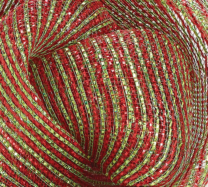 "10"" SQUARE RED/GREEN MESH"