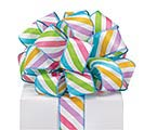 #9 SPRING STRIPES WIRED SATIN RIBBON