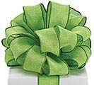 #9 LIME GREEN BURLAP WIRED RIBBON