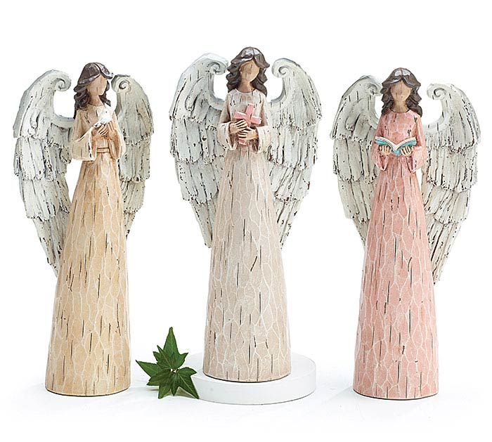 SPRING RESIN ANGEL FIGURINE SET