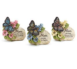 MOTHER'S DAY RESIN BUTTERFLY/ROCK SET
