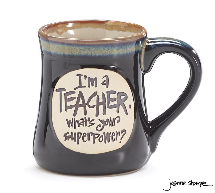 TEACHER SUPERPOWER PORCELAIN MUG