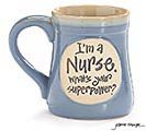 NURSE SUPERPOWER PORCELAIN MUG