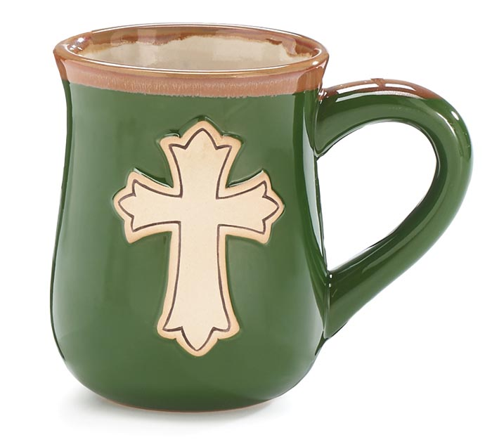 MATTHEW 22:37 CROSS PORCELAIN MUG
