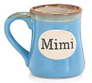 LIGHT BLUE MIMI/MESSAGE PORCELAIN MUG