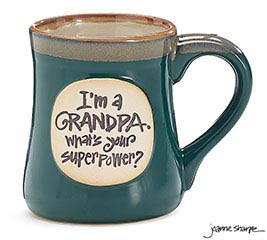GRANDPA SUPERPOWER PORCELAIN MUG