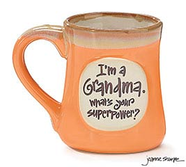 GRANDMA SUPERPOWER PORCELAIN MUG