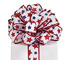 #9 PATRIOTIC STARS WIRED SATIN RIBBON