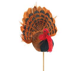 "13.5"" FEATHERED TURKEY PICK"