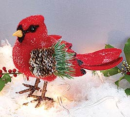 WINTER RED CARDINAL DECOR