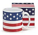 PATRIOTIC CERAMIC MUG W/BOX