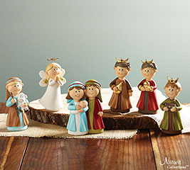 6 PIECE CHILDRENS RESIN NATIVITY
