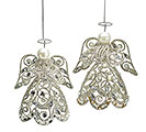 SILVER FILIGREE ANGEL ORNAMENT SET