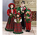 LARGE STANDING HOLIDAY CAROLER FAMILY
