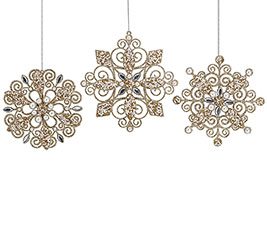 FILIGREE SNOWFLAKE ORNAMENT SET
