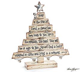 WHITEWASHED WOOD PLANK CHRISTMAS TREE