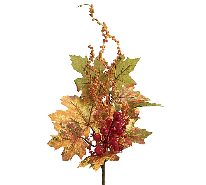 "15"" FALL LEAVES AND BERRY PICK"