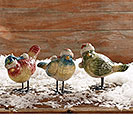 FIGURINE SANTA BIRDS