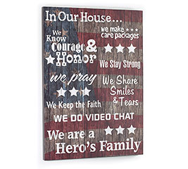 IN OUR HOUSE PATRIOTIC WALL HANGING