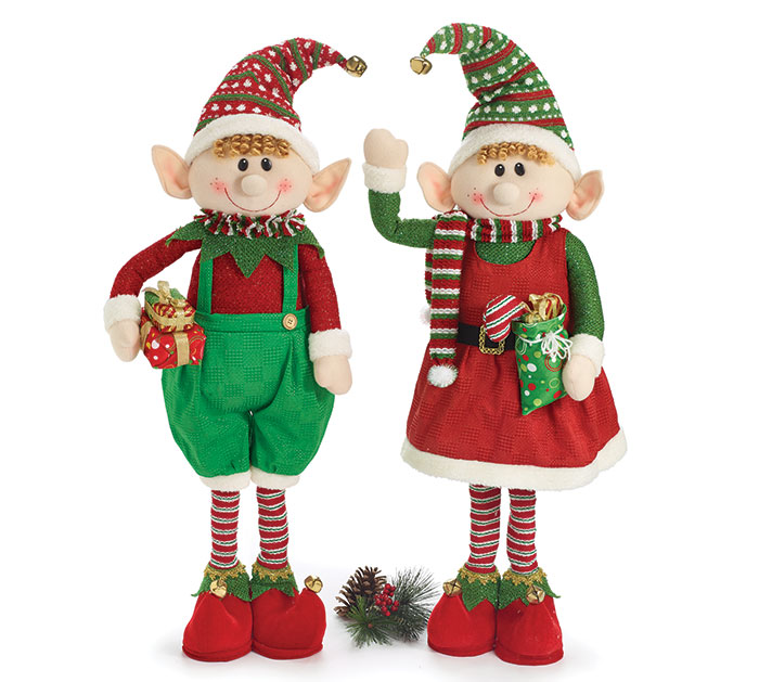 STANDING ELF COUPLE DECOR SET