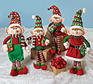 4 PIECE ELF FAMILY DECOR SET