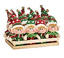 12 PIECE ELF ORNAMENT SET WITH BOX 1st Alternate Image