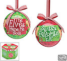 SANTA'S ELVES ORNAMENT SET W/ GIFT BOX