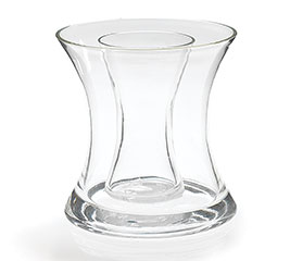 DOUBLE GLASS HOURGLASS VASE