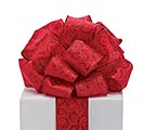 #40 RED GLITTER SWIRLS WIRED RIBBON