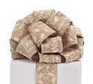 #40 MERRY CHRISTMAS LINEN WIRED RIBBON