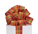 #9 FALL PLAID WIRED RIBBON