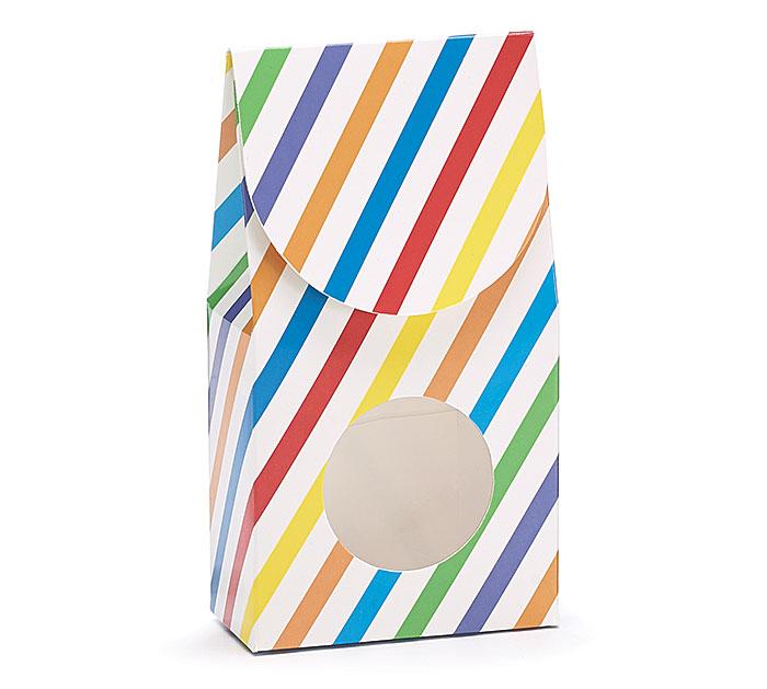 BRIGHT STRIPES PAPER CANDY BOX