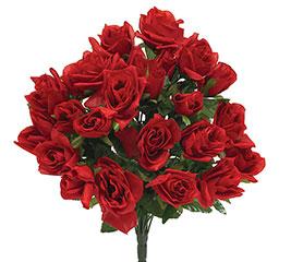 RED SILK ROSE BUSH
