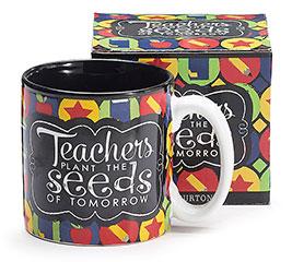 TEACHERS PLANT/SEEDS CERAMIC MUG W/BOX
