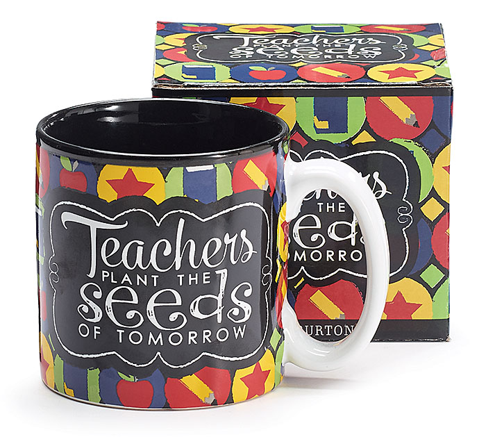 TEACHERS PLANT/SEEDS CERAMIC MUG W/BOX