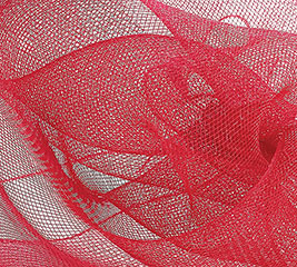 """10"""" SQUARE RED MESH"""