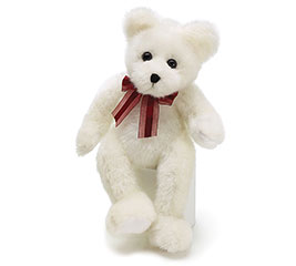 "PLUSH 14"" WHITE BEAR"