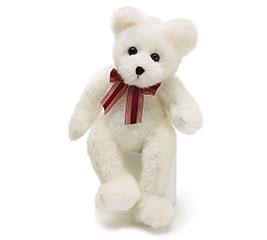 "PLUSH 14"" WHITE BEAR"
