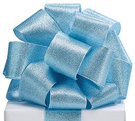 RIBBON #40 LT BLUE GLITTER