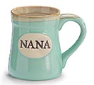 MINT GREEN NANA/MESSAGE PORCELAIN MUG