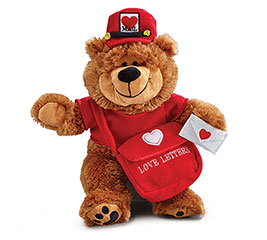 PLUSH LOVE LETTERS MAILMAN BEAR