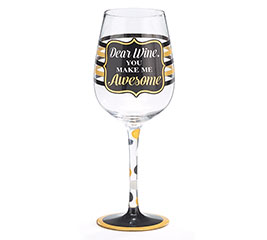 DEAR WINE/AWESOME WINE GLASS