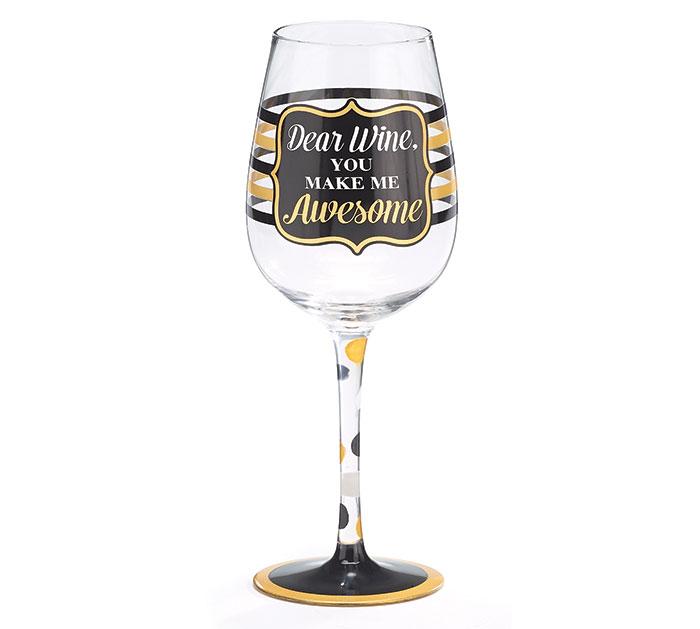 DEAR WINE/AWESOME WINE GLASS